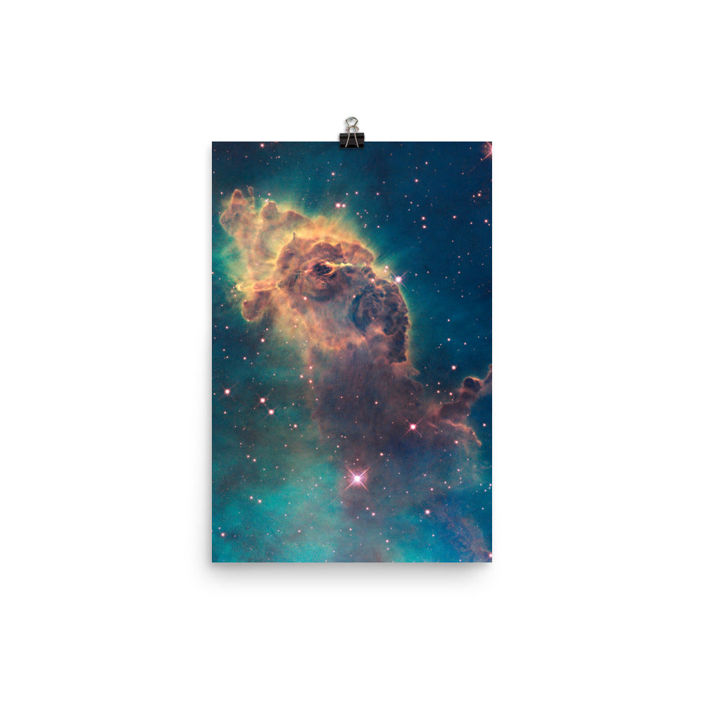 Hubble Gas and Dust Pillar in the Carina Nebula Poster