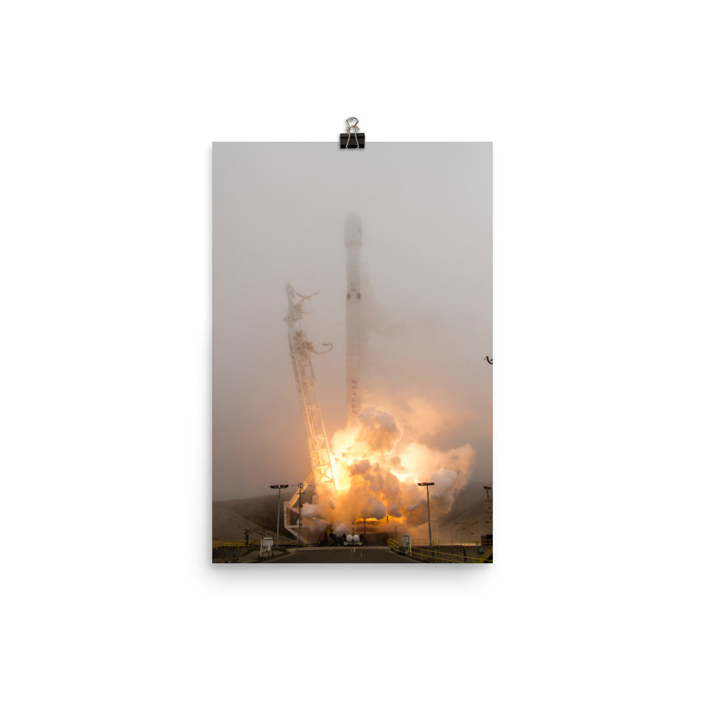 Spacex Iridium-2 Launch Poster