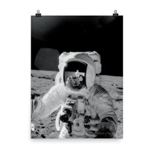 Alan Bean With Lunar Soil Poster