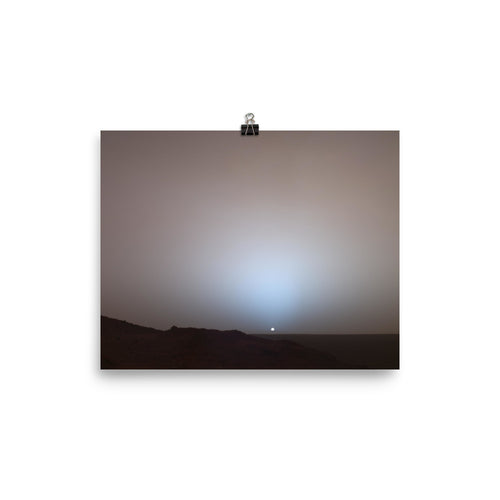 Mars Sunset Poster By Spirit rover