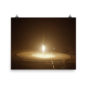 SpaceX Falcon 9 Flight 20 Landing Poster