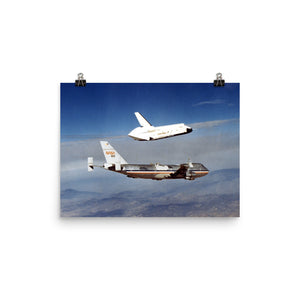 Space Shuttle Enterprise Free Flight Poster