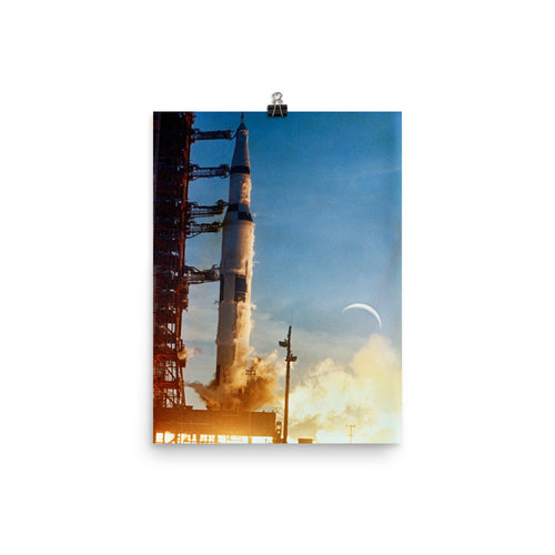 Apollo 8 Saturn V Ignites Poster