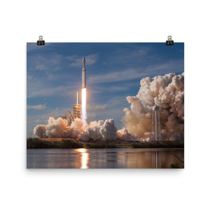 SpaceX Falcon Heavy First Launch Poster