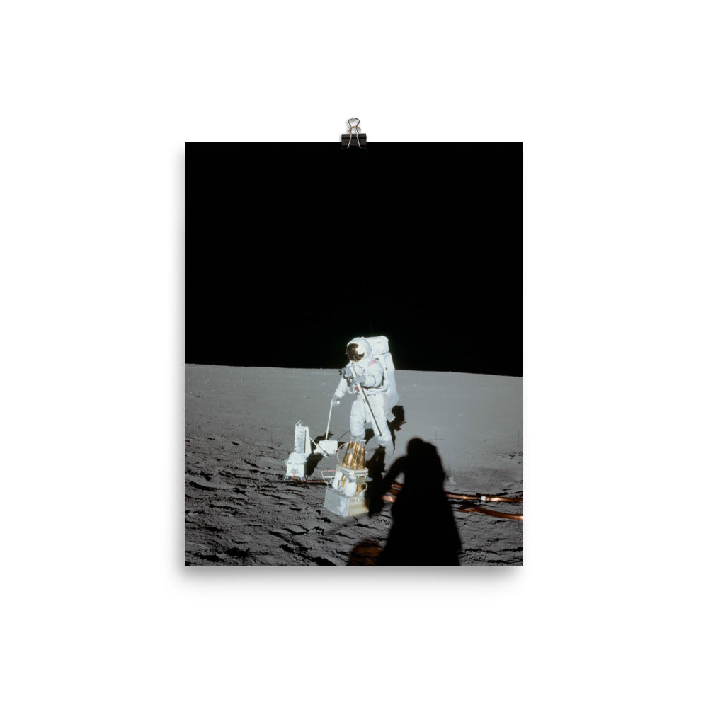 Apollo 12 moonwalk poster