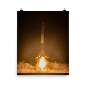 SpaceX Falcon 9 First Stage Landing Poster