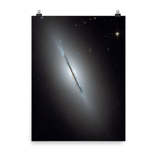 Hubble Disk Galaxy NGC 5866 Poster