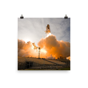 Liftoff of Space Shuttle Endeavour Poster