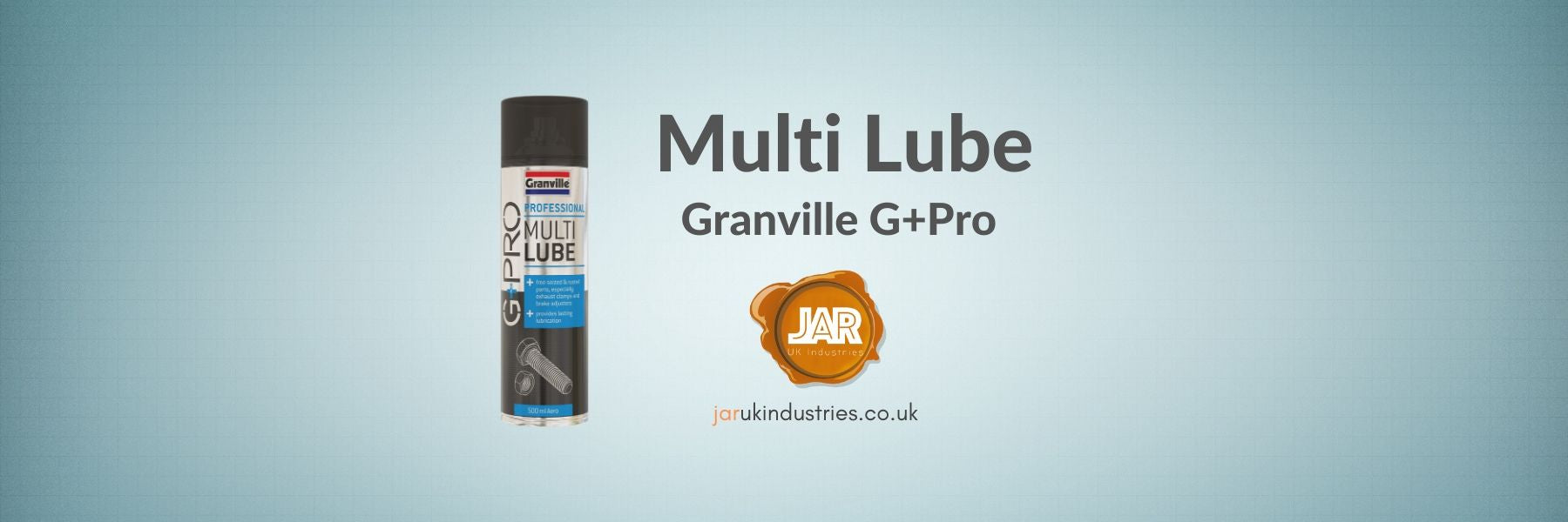 Granville G+Pro Multi Lube 500ml Aerosol Maintenance Spray | Product Overview