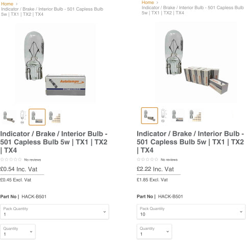 Automotive Bulbs Wholesale and Trade Prices