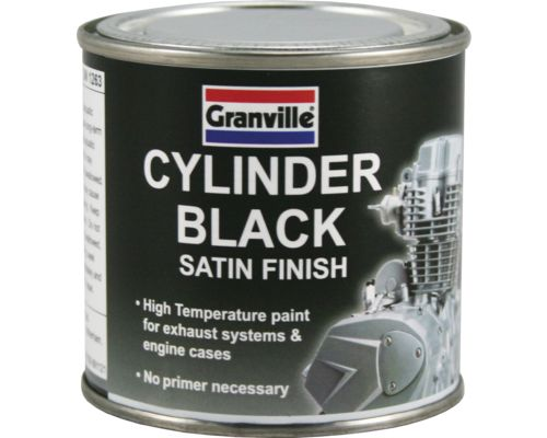 Granville Cylinder Black (250ml) - High Temperature Cylinder & Engine Paint - JAR UK Industries