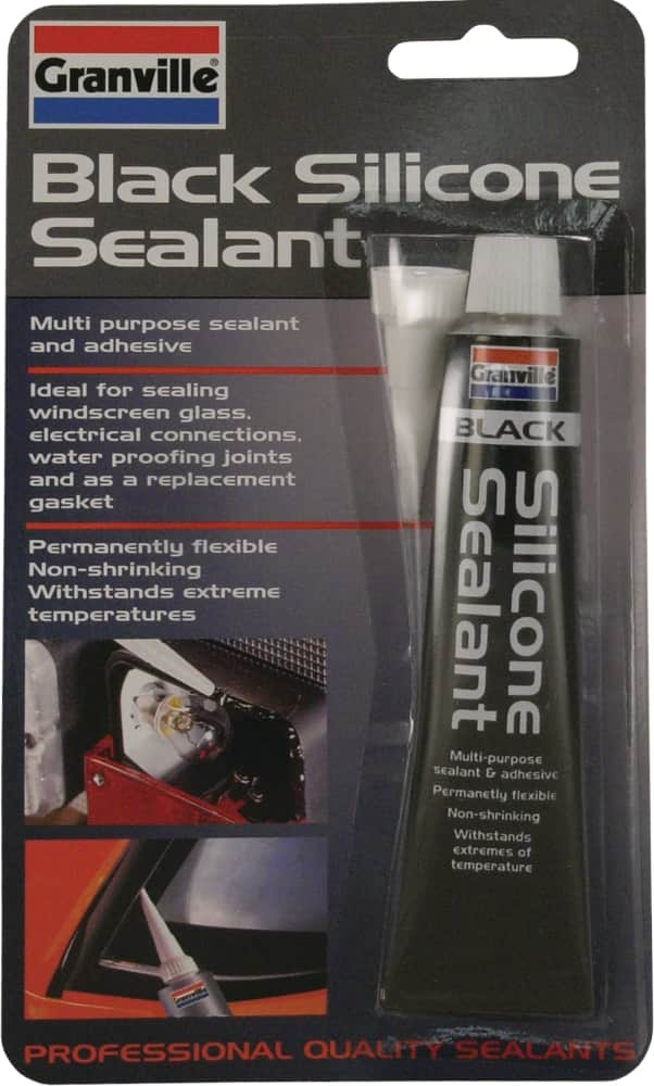 Granville Black Silicone Sealant - 40g Tube - JAR UK Industries