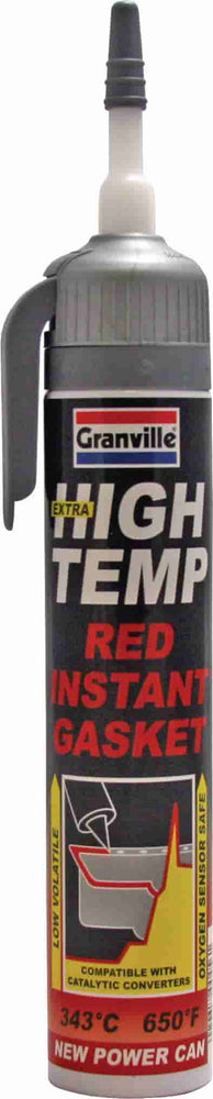 Granville Extra High Temp Instant Gasket - Red - 200ml - JAR UK Industries