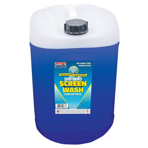 Granville Sub Zero -15 Screenwash (Methanol Free) - 5 Ltr, 25 Ltr, 200 Ltr - JAR UK Industries
