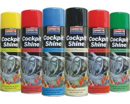 Granville Cockpit Shine Gloss - 6 Pack Assortment - 500ml Aero - JAR UK Industries