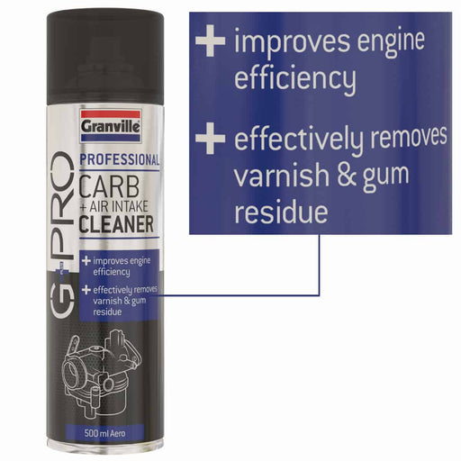 Granville Carb & Air Intake Cleaner - G+Pro - 500ml - JAR UK Industries