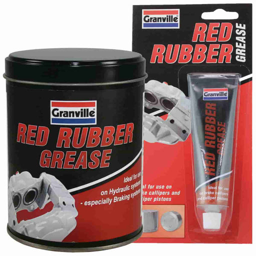 Granville Red Rubber Grease - 70g Tube / 500g Tin - JAR UK Industries