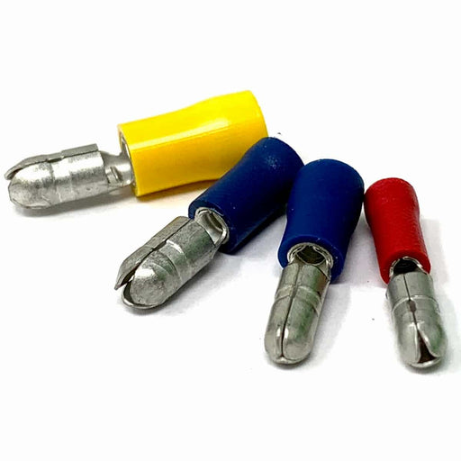 Male Bullet Terminals (Red, Blue, Yellow) - (Pack 10, 25, 100 or 1000)