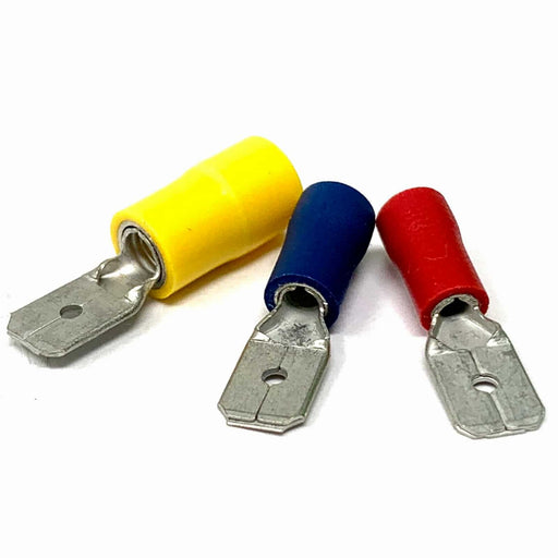 Male Push-on Blade Terminals (Red, Blue, Yellow) Jar Uk Industries