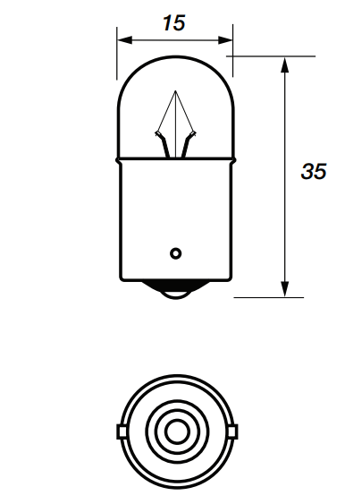207 Bulb - Side / Tail - BA15s - 12v 5w - Autolamps (E1) - JAR UK Industries