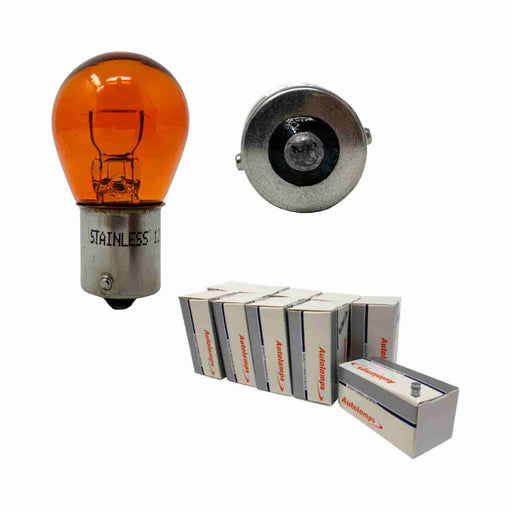 382Y (343) Bulb - Amber Flasher - BA15s - 12v 21w - Autolamps (E1) - JAR UK Industries