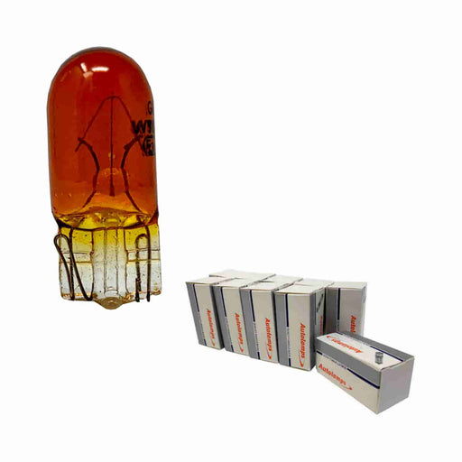 501 Bulb - Amber Side / Tail - W2.1 x 9.5d - 12v 5w - Autolamps (E1) - JAR UK Industries