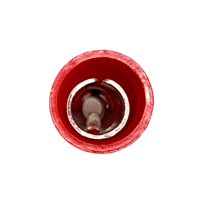 Female Bullet Receptacle Socket Terminals (Red, Blue, Yellow) - (Pack 10, 25, 100 or 1000)