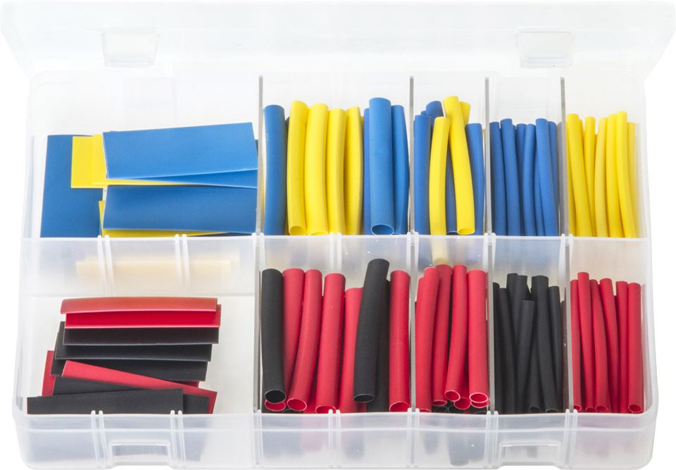 Heat Shrink Tubing 2:1 Ratio - 50mm Lengths Assorted Box - JAR UK Industries