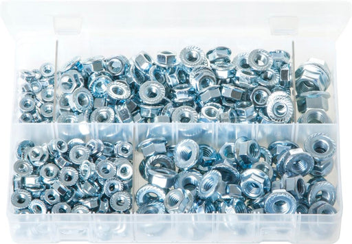 Serrated Flange Nuts - Metric - Assorted Box - JAR UK Industries