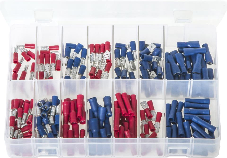Terminals Insulated - Red & Blue - Assorted Box - JAR UK Industries