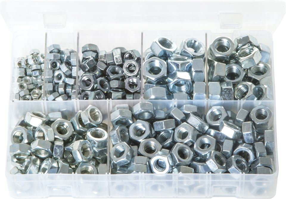 Steel Nuts - Metric Fine - Assorted Box - JAR UK Industries