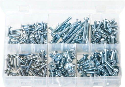 Machine Screws (Body Screws) Countersunk, Pozi - Metric - Assorted Box - JAR UK Industries