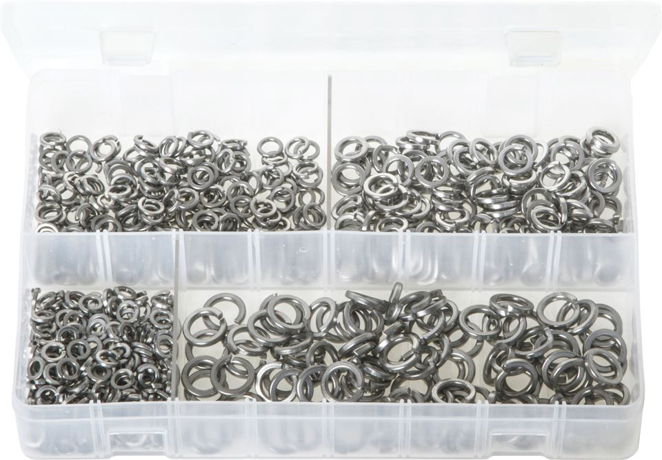 Stainless Steel Spring Washers - Metric - Assorted Box - JAR UK Industries