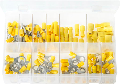 Terminals Insulated - Yellow - Assorted Box - JAR UK Industries