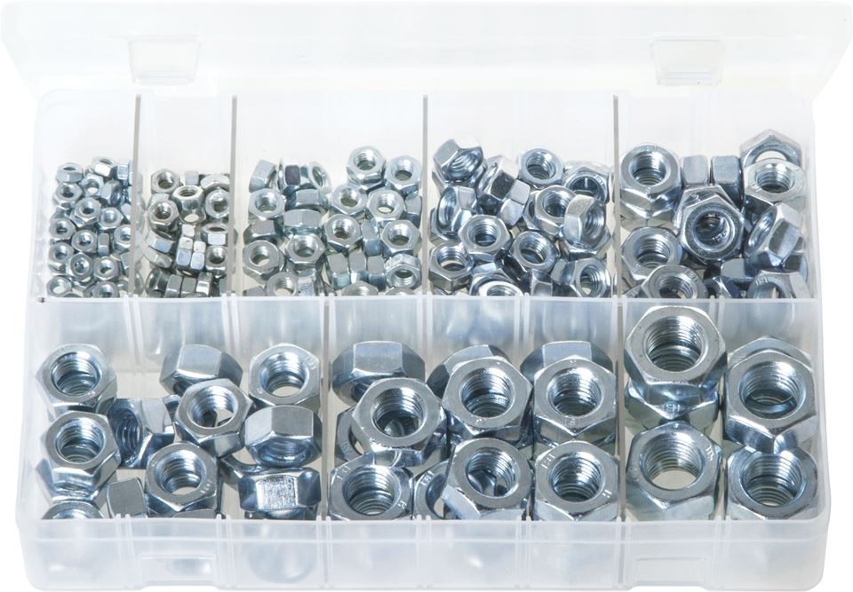 Steel Nuts - Metric - Assorted Box - JAR UK Industries