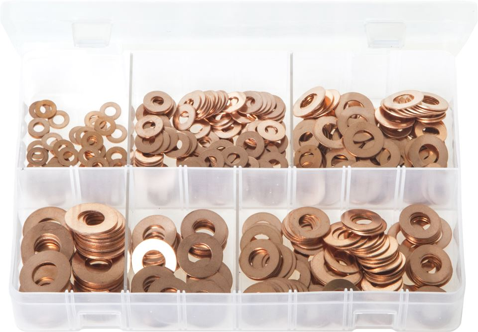 Copper Washers - Imperial - Assorted Box - JAR UK Industries