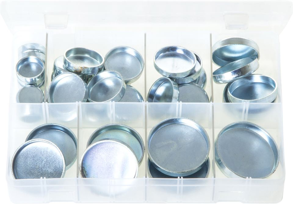 Core Plugs Cup Type - Imperial - Assorted Box - JAR UK Industries