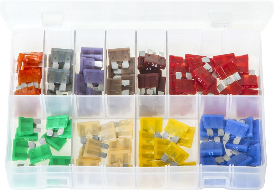 littelfuse atof standard blade fuses with fuse holders - assorted box - jar  uk industries