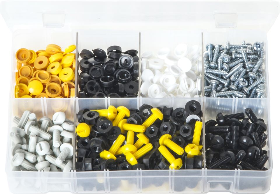 Number Plate Fasteners - Assorted Box - JAR UK Industries