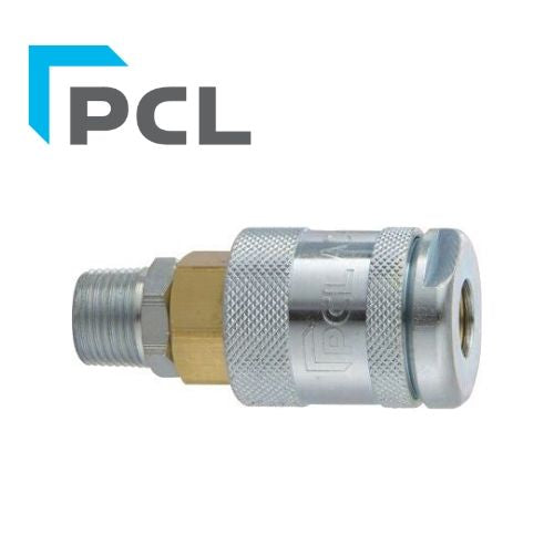 "PCL 60 Series Coupling - Male - 1/4"" BSP - Jar Uk Industries"