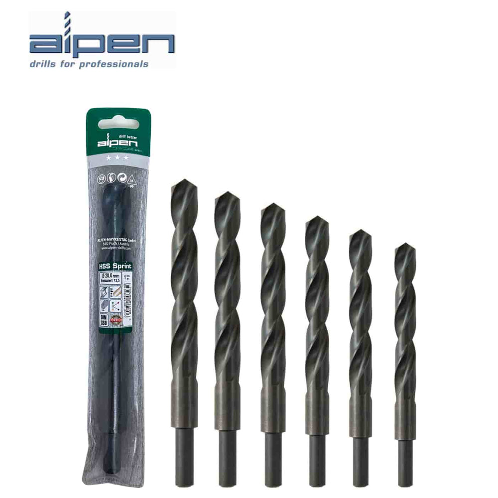 ALPEN 'Sprint' HSS Reduced Shank Jobber Drills - Choose Size - JAR UK Industries