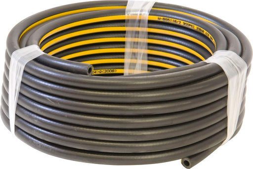 Air Line Hose - Black Rubber with Yellow Stripe - Choose Hose I.D. - JAR UK Industries