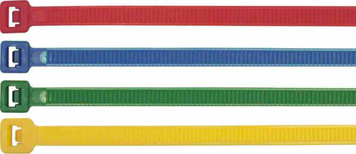 Cable Ties - Assorted Colours - 200mm x 4.8mm - 200 Pcs - JAR UK Industries
