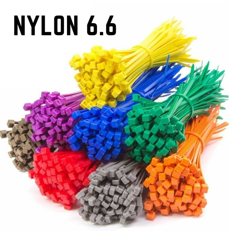Coloured Nylon Cable Ties - Choose Size & Colour (Pack 100)