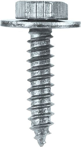 "Sheet Metal Screws c/w Captive Washer - 8 x 3/4"" (4.2mm x 19mm) - BZP - JAR UK Industries"