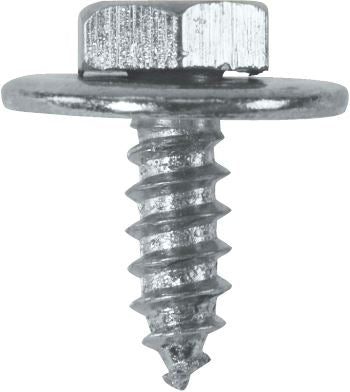 "Sheet Metal Screws c/w Captive Washer - 10 x 1/2"" (4.8mm x 13mm) - BZP - JAR UK Industries"