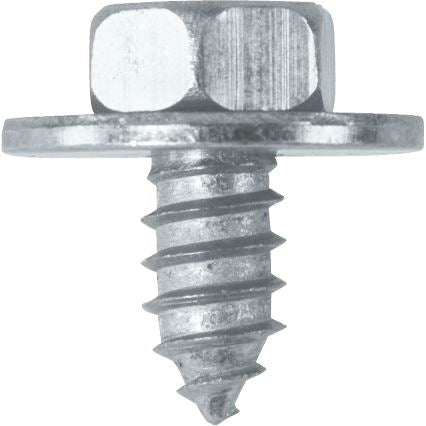 "Sheet Metal Screws c/w Captive Washer - 14 x 1/2"" (6.3mm x 13mm) - BZP - JAR UK Industries"