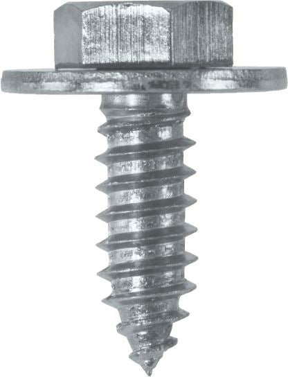 "Sheet Metal Screws c/w Captive Washer - 14 x 3/4"" (6.3mm x 19mm) - BZP - JAR UK Industries"