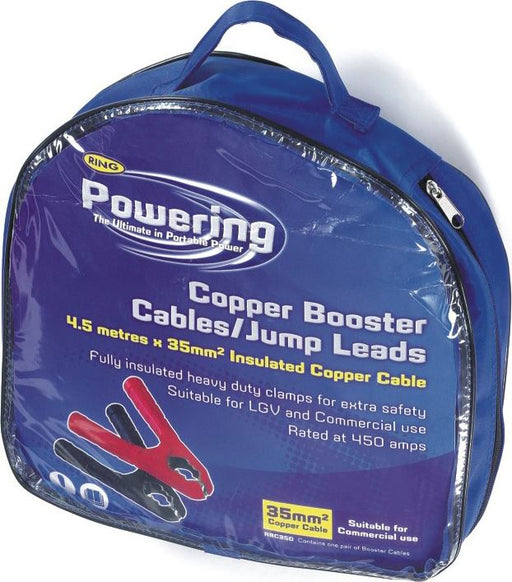 RING 'Powering' Booster Cables / Jump Leads - 35mm² x 4.5M - JAR UK Industries