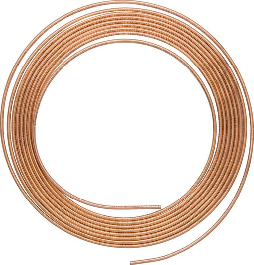"Brake Tubing - Copper - 25ft Coil - 3/16"" O.D. (Outer Diameter) - JAR UK Industries"